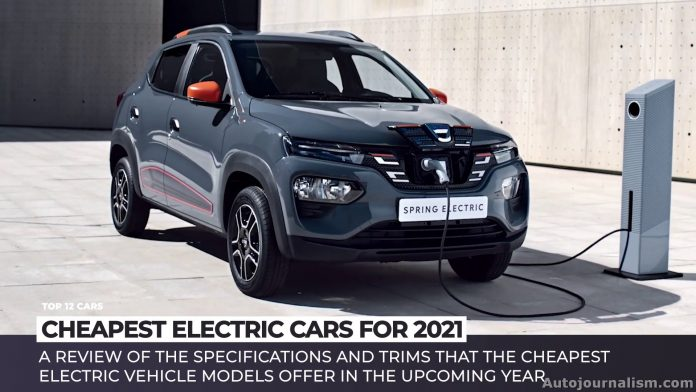 Top 10 Cheapest Electric Cars in 2021