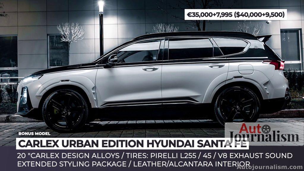 CARLEX URBAN EDITION HYUNDAI SANTA FE - Top 10 most affordable sports cars for Family 2021