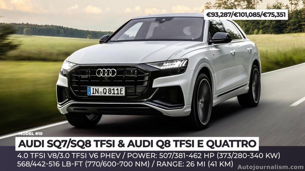 AUDI SQ7/SQ8 TFSI and AUDI Q8 TFSI E QUATTRO