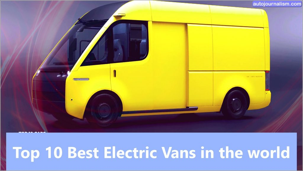 Top 10 Best Electric Vans in the world In today's post, we'll be showing you the freshest models out there, we will provide you full information about The Top 10 Best Electric Vans in the world with Price and Power, In an attempt to catch up with the tightening emissions regulations manufacturers of last-mile delivery fans and small passenger models are rapidly upping their game with amazon taking the climate pledge we can safely assume that others will follow so the torrent of electric vents will continue to grow. CANOO MPDV ( Electric Van ) CNOO has been teasing a multi-purpose delivery van built on their proprietary skateboard platform since 2018 now it arrives in two versions scheduled to start production in 2022 both are front-wheel-drive models powered by a single electric motor with 200 horses and 236-pound feet of torque they get three battery options 40, 60 or 80-kilowatt hour good for 90 to 230 miles of driving the conducive modular interior design created to be easily tailored to the owner's needs or daily tasks while the main difference between them is in size the mpdv2 is a larger high roof fan with a total cargo capacity of 500 cubic feet and payloads up to 1,760 pounds the one is smaller across all dimensions has just 230 cubic feet of the room but can carry heavier loads up to 1980 pounds. FORD E-TRANSIT ( Electric Van ) FORD E-TRANSIT this is one of the few electric cargo van options that will launch not only in Europe but also in the u.s the e-transit will offer standards chess c-cap and cutaway body styles plus three lengths and roof heights for the former from the outside it does not look radically different from the regular transit with only a new grill with blue bars a nose located charging socket and special badges marking a tv nature the model gets 1e motor driving the rear wheels it produces 269 horsepower and 317 pound-feet of torque which would be more than enough even for the largest payload models despite targeting the last mile delivery
